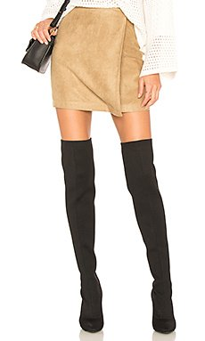 A Line Faux Suede Skirt                                             BCBGeneration
