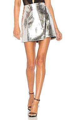Nina Metallic Moto Skirt                                             by the way.