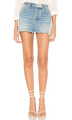 Patched Denim Mini Skirt                                             Free People