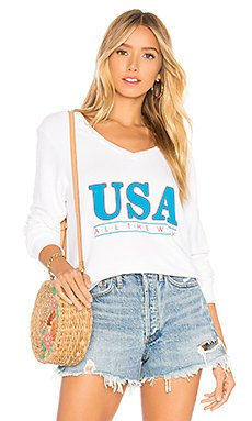 All The Way Baggy Beach V Sweater                                             Wildfox Couture