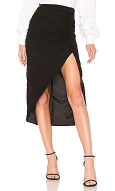 Shirred Skirt W/ High Slit                                             LPA