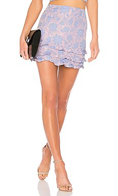 Tiered Ruffle Mini Skirt                                             LPA
