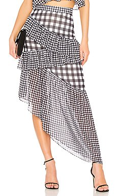 Asymmetric Ruffle Maxi Skirt                                             LPA