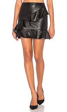 Asymmetrical Ruffle Mini Skirt                                             Endless Rose