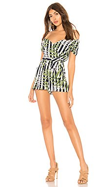 Pilar Off Shoulder Tie Romper                                             by the way.