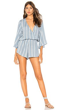 Wild And Free Romper                                             Blue Life