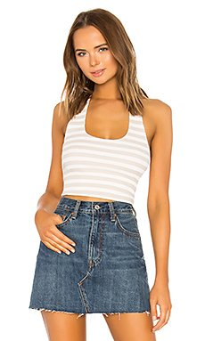 Nikki Ribbed Halter Crop Top                                             About Us