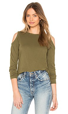 Jersey Cold Shoulder Top                                             Bobi