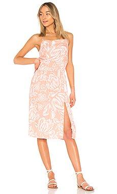Coral Floral Midi Dress                                             MINKPINK