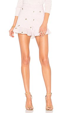 Embroidered Ruffle Shorts                                             J.O.A.
