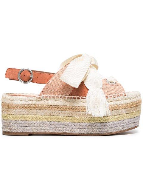 Chloé Orange Qai 70 Flatform Sandals - Farfetch