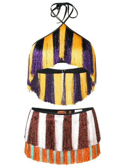 Missoni Mare Mixed Stripe Fringed Bikini - Farfetch