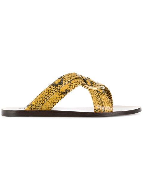 Chloé Snake Print Rony Sandals - Farfetch