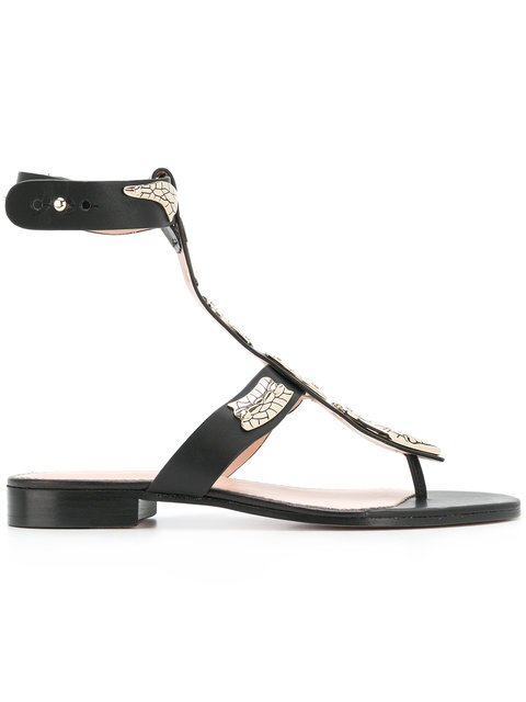 Red Valentino Snake Plaque Sandals - Farfetch