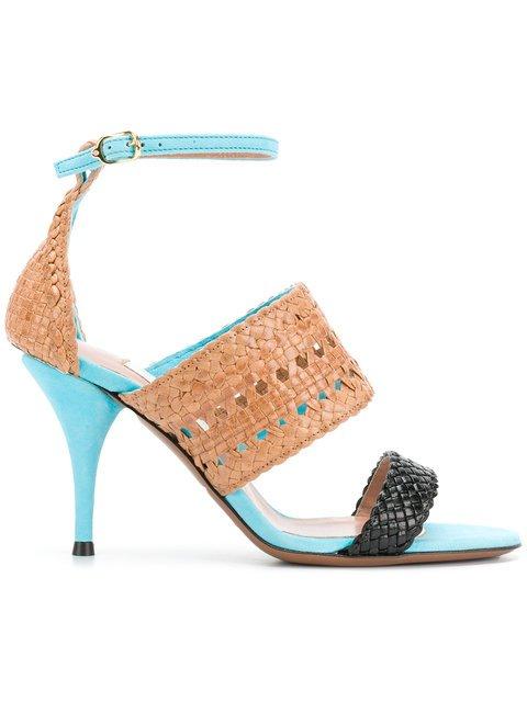 L\'Autre Chose Woven Detail Heels - Farfetch