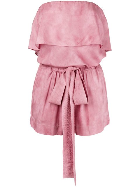 Vix Paula Hermanny Strapless Tie Waist Playsuit - Farfetch