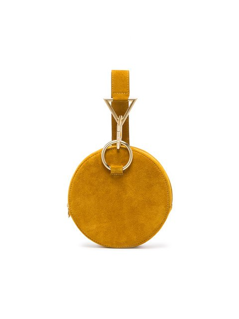 Tara Zadeh Yellow Azar Suede Bracelet Bag - Farfetch