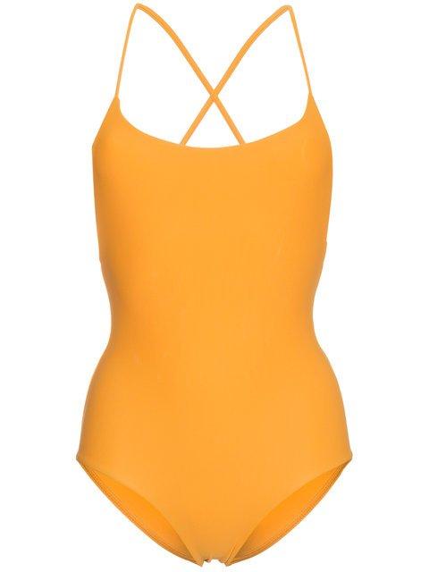 Matteau Orange Cross Back Maillot Swimsuit - Farfetch