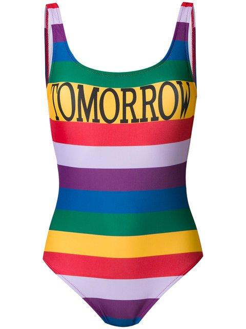 Alberta Ferretti Tomorrow Rainbow Stripe Swimsuit - Farfetch