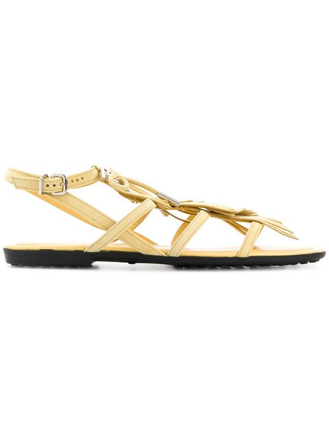 Tod\'s Fringed Sandals - Farfetch