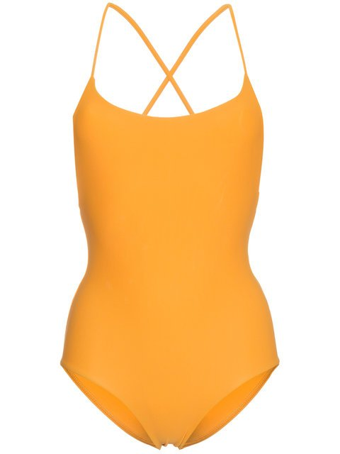 Matteau Orange Cross Back Maillot Swimsuit - Farfetch