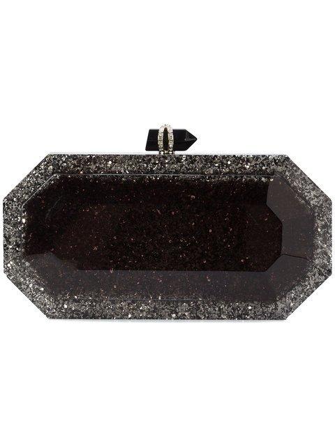 Marchesa Glitter Box Clutch Bag - Farfetch