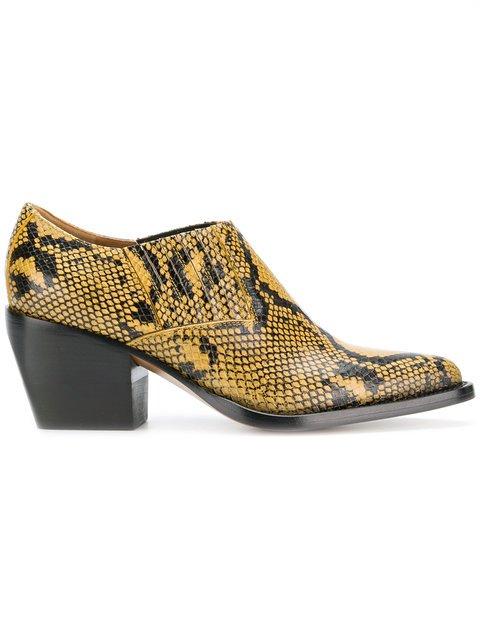 Chloé Snake Printed Boots  - Farfetch