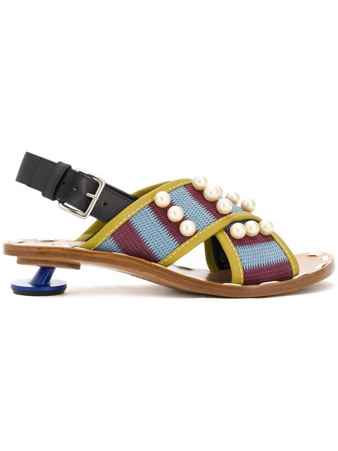 Marni Cross-over Low Heel Sandals - Farfetch