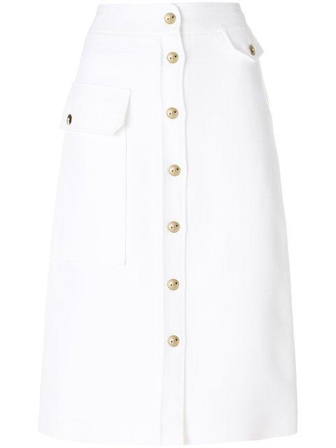 Emilio Pucci Button Front A-line Midi Skirt - Farfetch