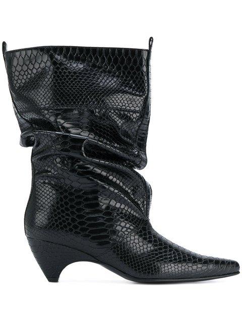 Stella McCartney Snake-effect Boots - Farfetch