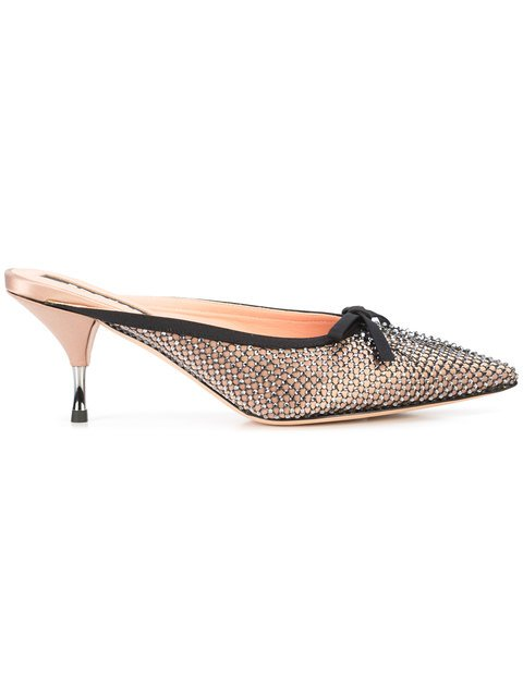 Rochas Rhinestone Evening Mules - Farfetch