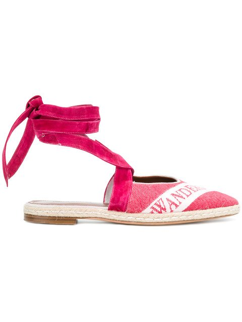 JW Anderson Open-back Logo Ballerina Sandals - Farfetch