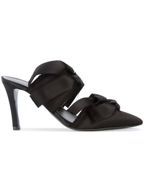 Proenza Schouler Satin High Mule With Ties - Farfetch