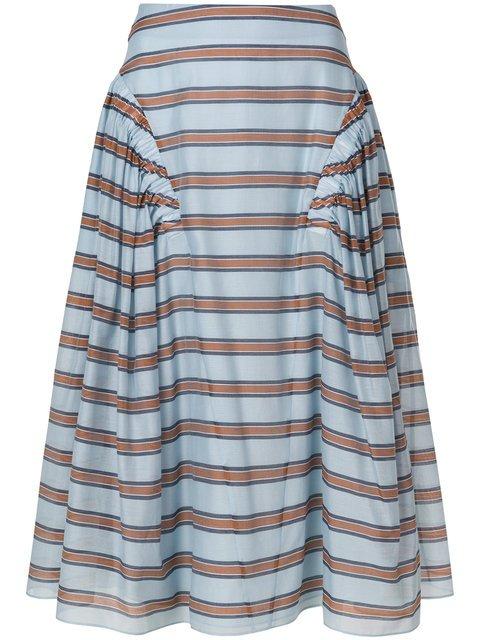 Fendi Striped Flared Skirt - Farfetch