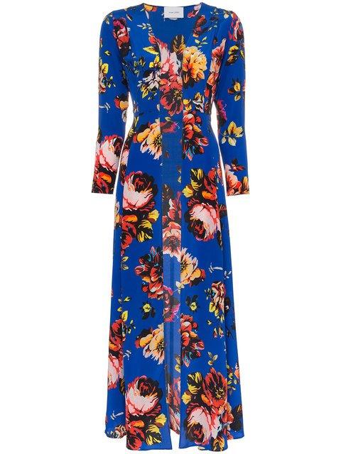 We Are Leone Silk Floral Maxi Robe - Farfetch
