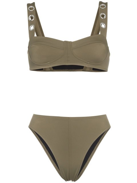 Ack Military Green Ana Due High-leg Bikini - Farfetch