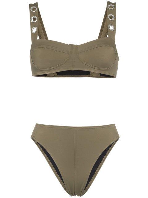 Ack Military Green Ana Due High-leg Bikini - Farfetch
