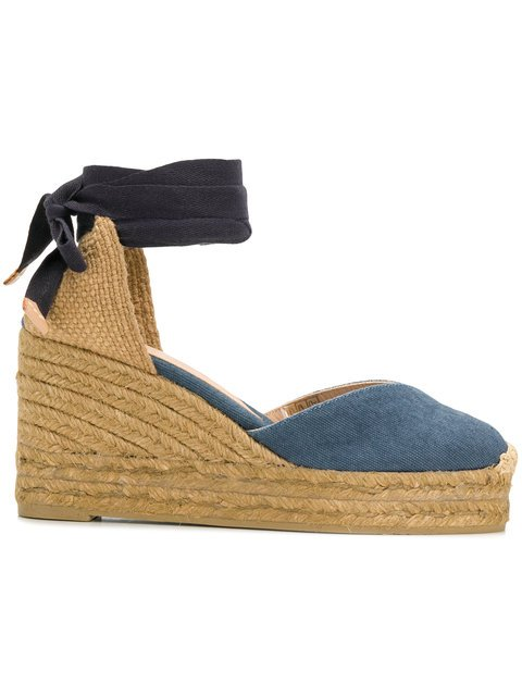 Castañer Denim Wedge Espadrilles - Farfetch