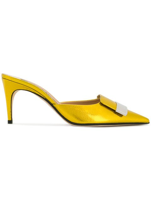 Sergio Rossi Pointed Toe Mules - Farfetch