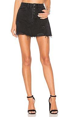 Denim A-Line Skirt                                             Free People