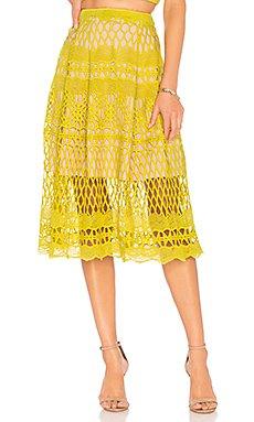 Guipure Lace Midi Skirt                                             Endless Rose