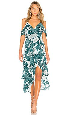 Floral Party Dress                                             Bardot