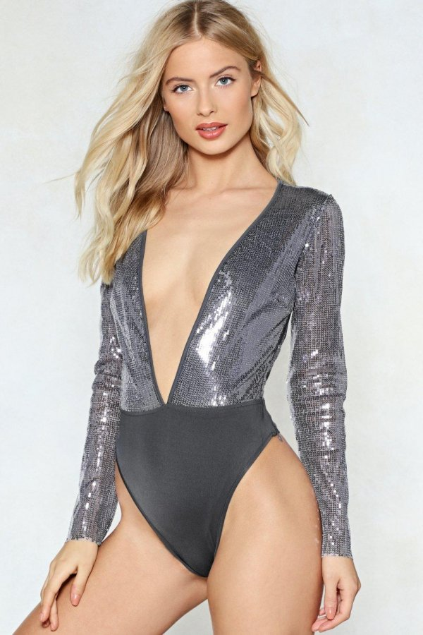 In too Deep Sequin Bodysuit