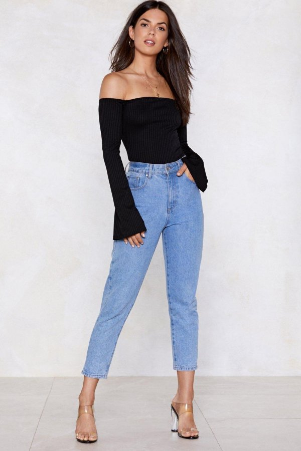 Flare Game Off-the-Shoulder Bodysuit