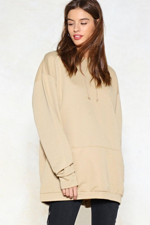 And Relax Longline Hoodie