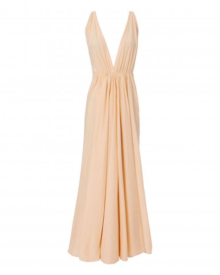 Clemence Deep-V Maxi Dress