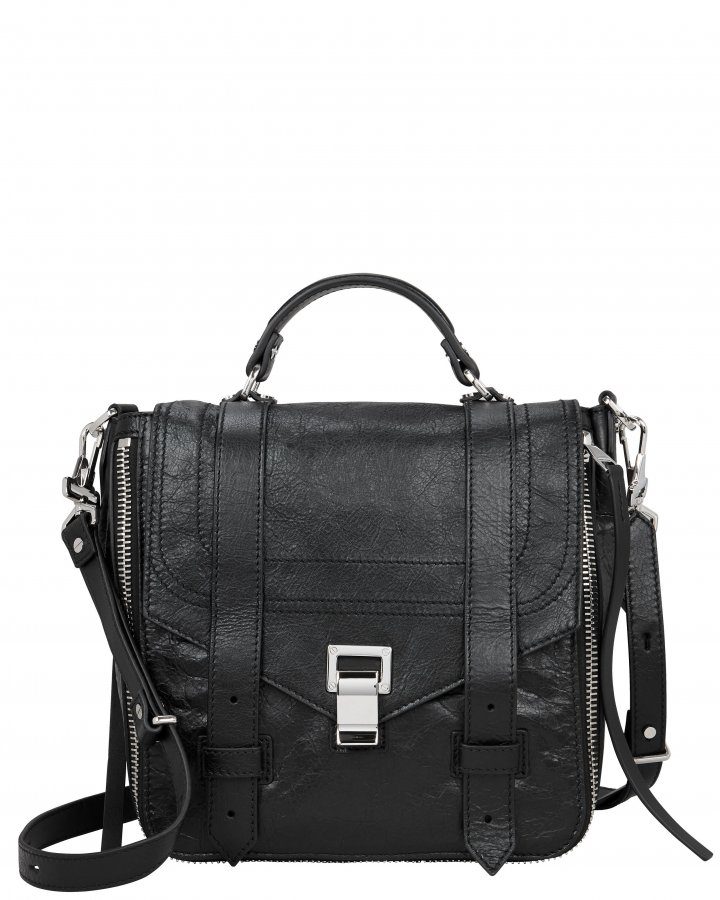 PS1+ Zip Black Leather Backpack