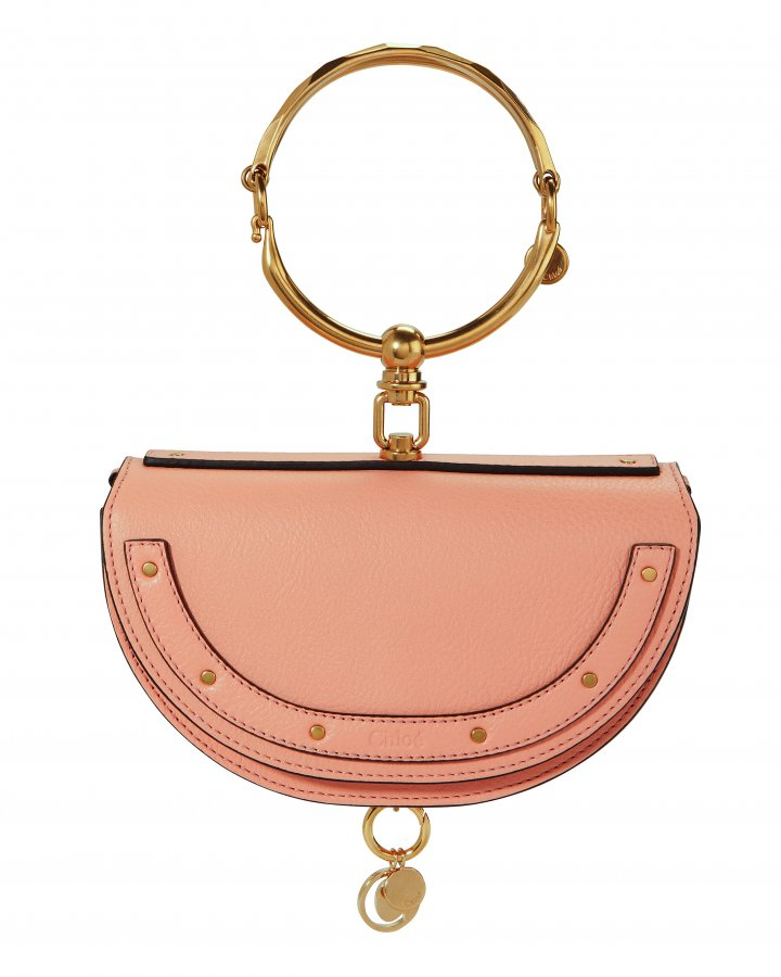 Small Nile Pink Leather Minaudiere