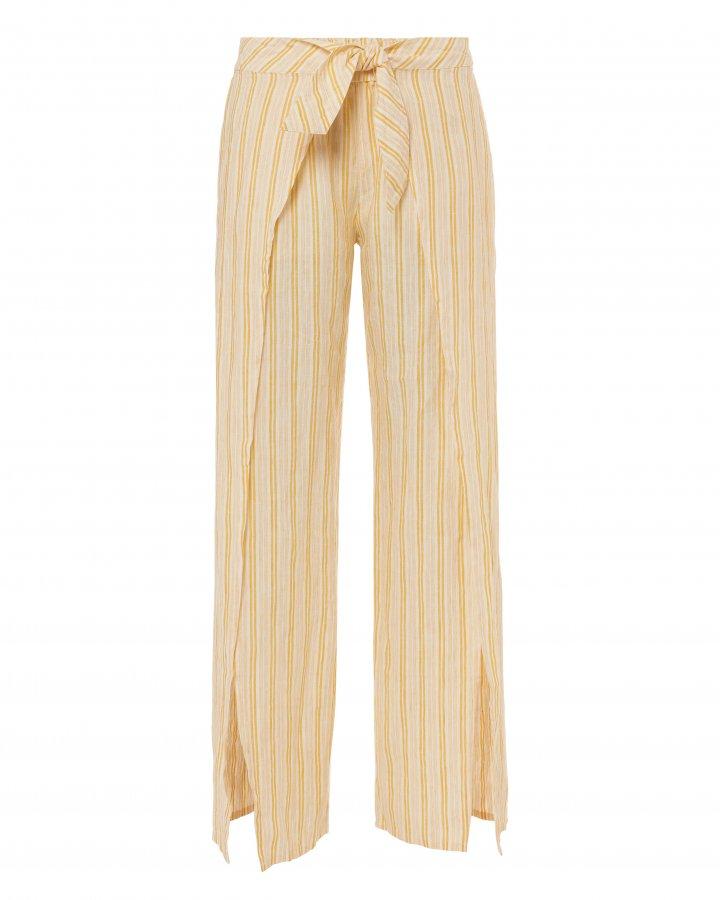 Sahira Tie-Front Linen Pants