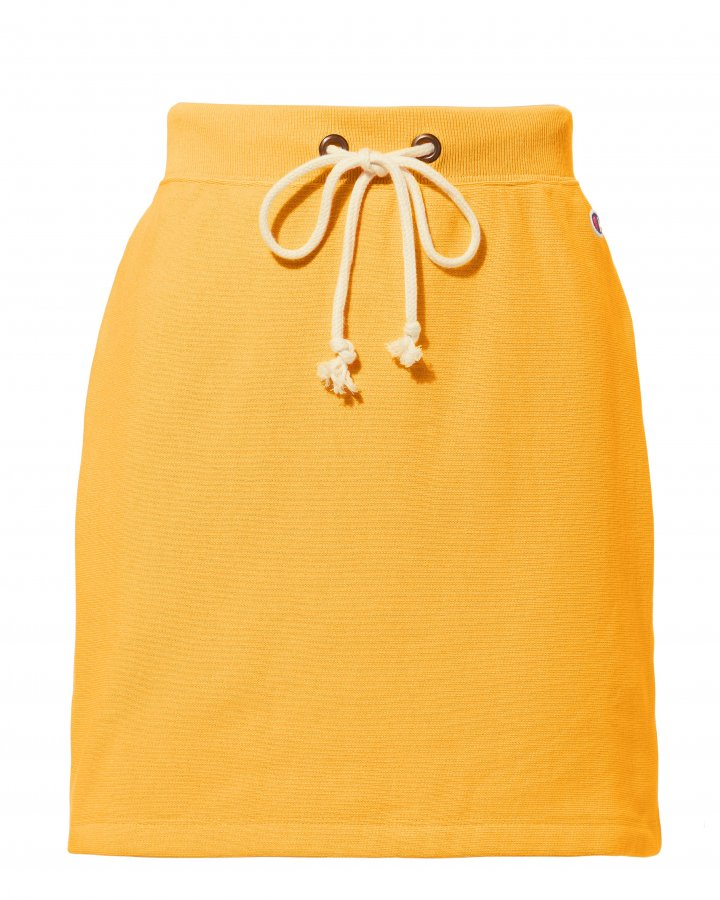 Yellow Mini Sweat Skirt